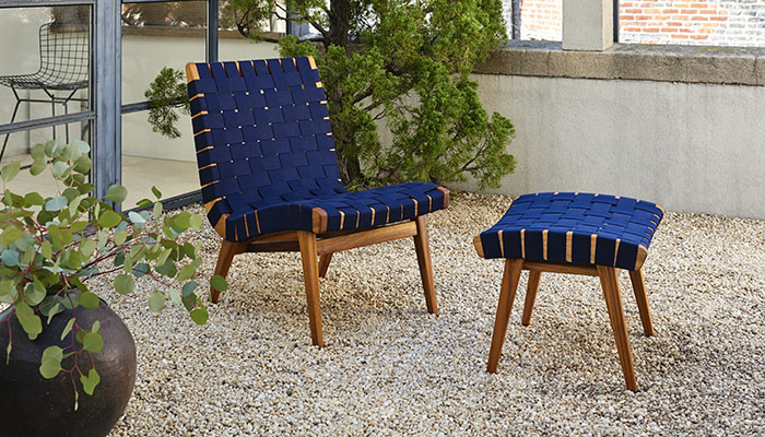 Risom outdoor collection teak