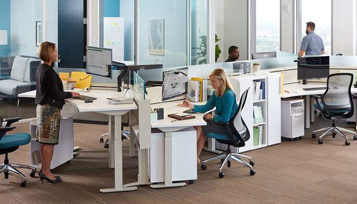 Fence® with Tone™ Height-adjustable Desks