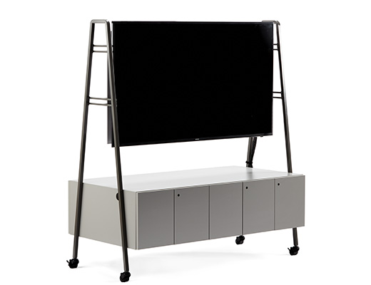 Rockwell Unscripted media cart tv support monitor support storage AV equipment mobile casters