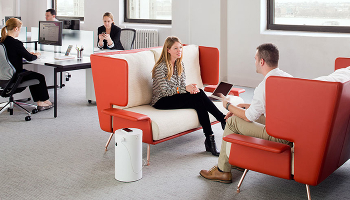 AA Contract Sofa and Antenna® Workspaces