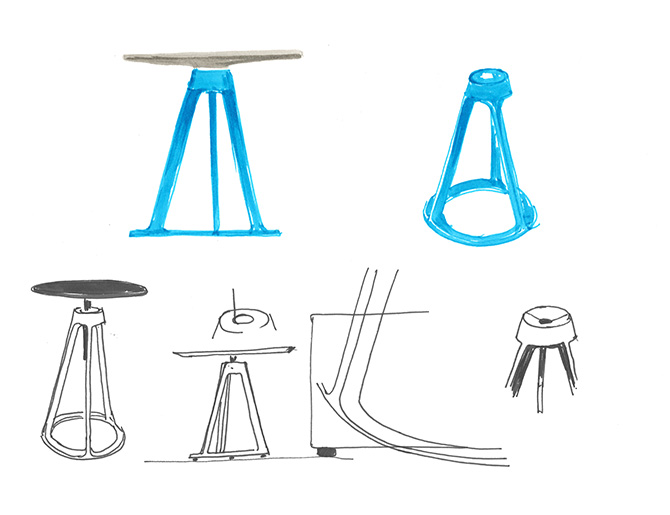 Barber Osgerby Stool Sketches