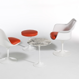 Eero Saarinen Pedestal Collection Tulip Stool Tulip Armchair Tulip Armless Chair Pedestal Side Table