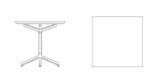 Pixel Square Table 30