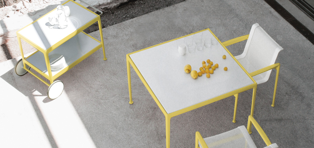 Schultz 66 Dining Table and Chairs in Yellow