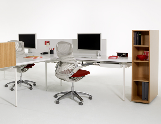 Antenna Workspaces Linked Desk and storage