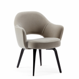 Saarinen executive arm chair fully upholstered wood base