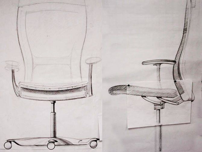 Knoll Formway Design Life Sketches Archival Image