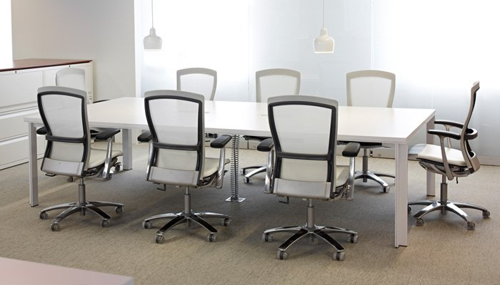 LSM Conference Table with Life® Chairs and Calibre® Lateral Files