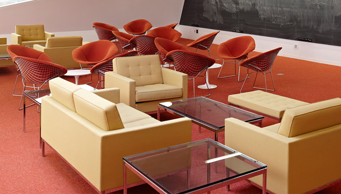 Florence Knoll Lounge Collection with Bertoia Diamond Chairs