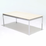 Florence Knoll Coffee Table with marble top and chrome legs