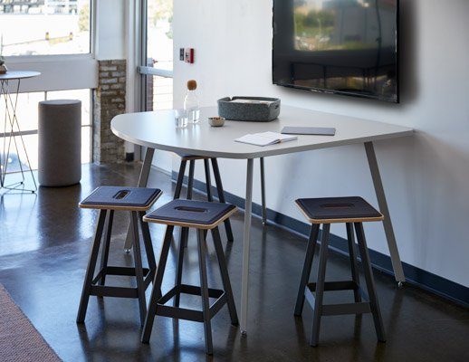 rockwell unscripted easy table counter height d shape easy stools media enclave team meeting breakout muuto accessories corky restore