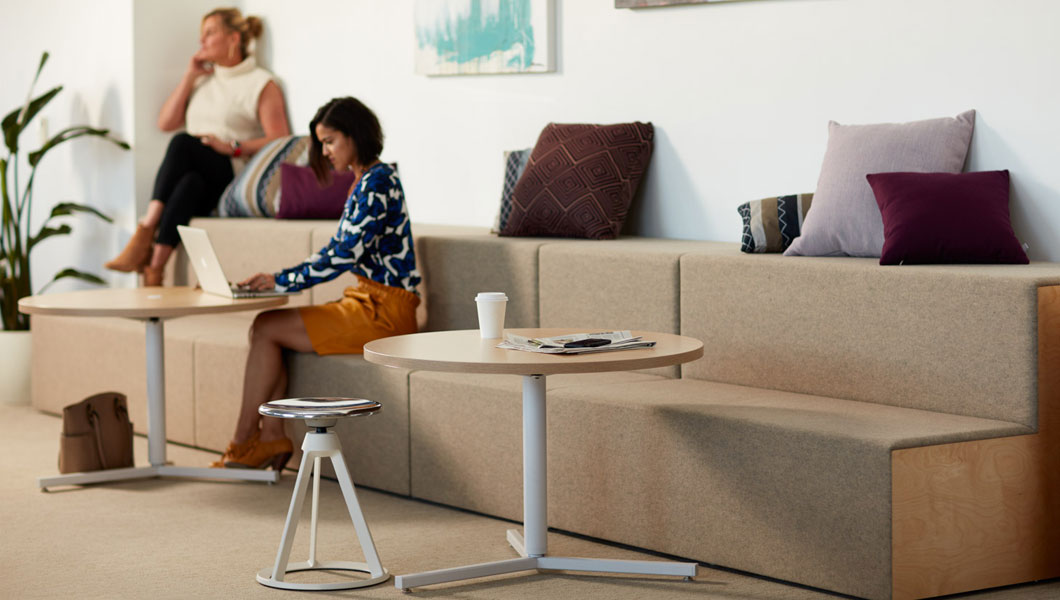 Knoll Shared Spaces Community Space With Rockwell Unscripted Steps