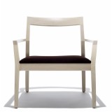 Knoll White Ash Krusin Lounge Chair