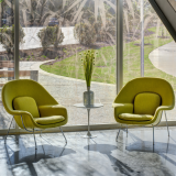 healthcare Saarinen Womb Chair Eero Saarinen lounge waiting area patient Saarinen Pedestal Table health care outpatient facility