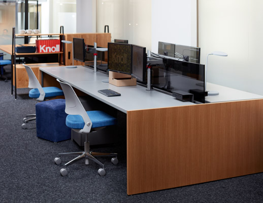 neocon 2018 hospitality at work horsepower antenna simple tables gallery panels privacy screens shared workstations collaborative space