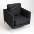 Odyssey Collection Pattern Yeni Upholstery Black Blue Grey Plaid Divina Chair