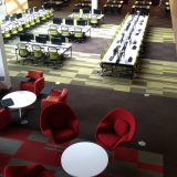 University of Portland Clark Library Antenna Workspaces Generation Chairs Antenna Big Table Activity Spaces Saarinen Womb Chair