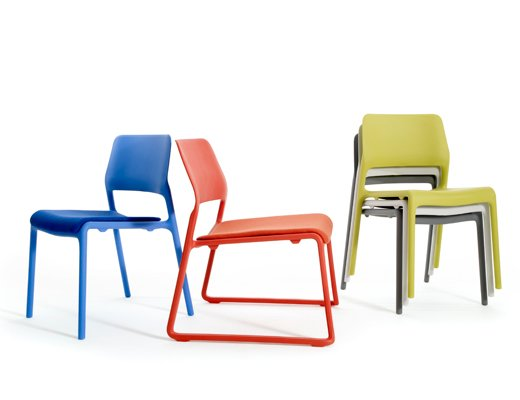 Superbe ... Spark Series Lounge And Stacking Chairs By Don Chadwick In Orange, Red  And Green ...