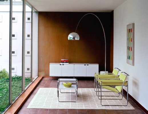 Wassily Chair, Florence Knoll Credenza and Laccio Table