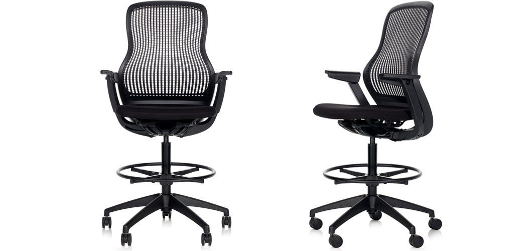 Superieur ReGeneration By Knoll Ergonomic Stool High Task Chair