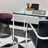 Knoll Florence Knoll Table Desk and Tubular Brno