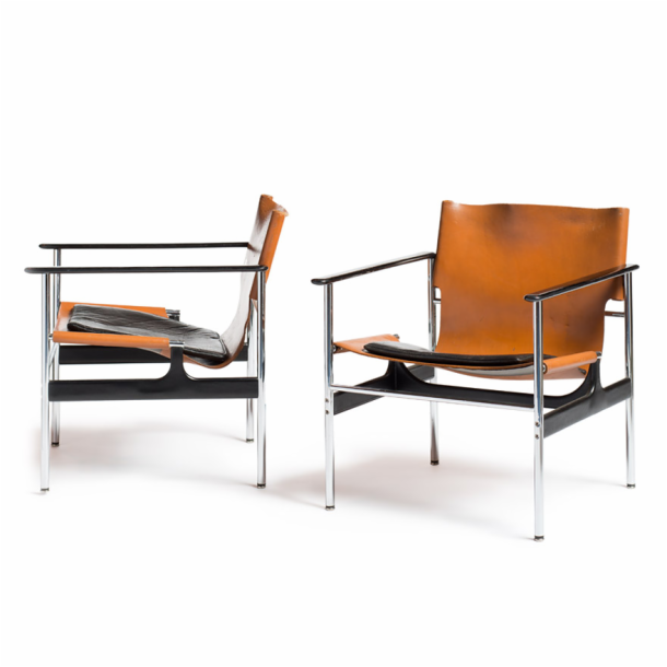 Superbe Charles Pollock Model 657 Arm Chairs