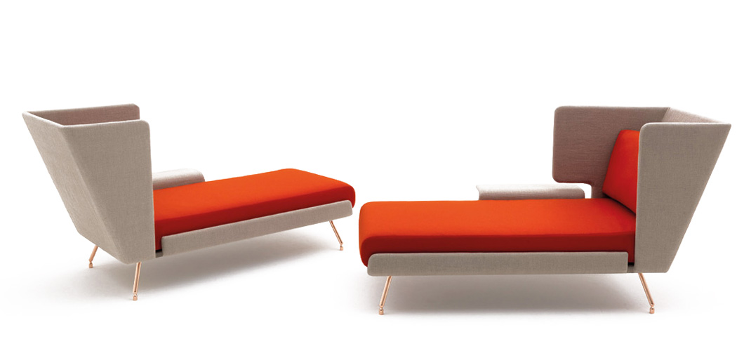 aa residential chaise lounge - Chaise Orange