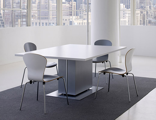 Propeller Conference Table with Rectangular Drum Base