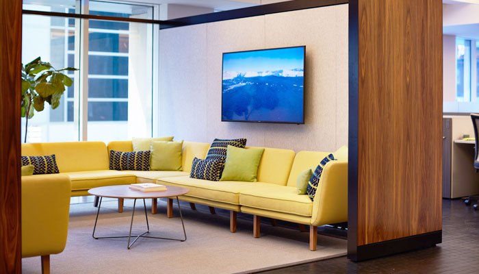 Rockwell Unscripted® Creative Wall®, Modular Lounge and Coffee Table