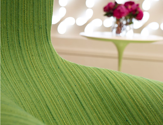 Harry Bertoia Green Upholstered Bird Chair