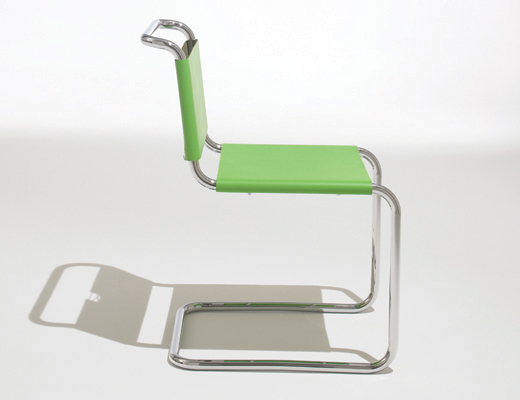 Spoleto guest chair in green Spinneybeck leather