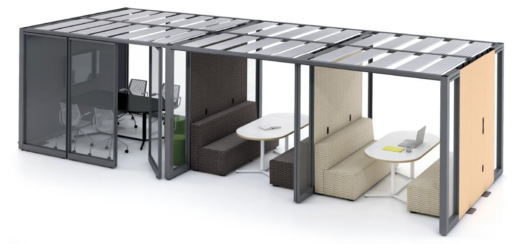 Rockwell Unscripted Creative Wall Freestanding Modular Open Office Wall System by Knoll