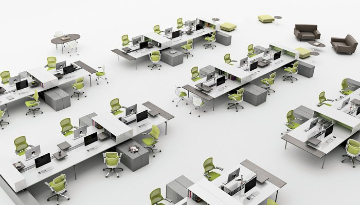 Open Office Layout Design Plan Ideas