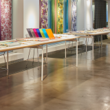 NeoCon 2015 Bertoia Barstool Antenna Design table KnollTextiles