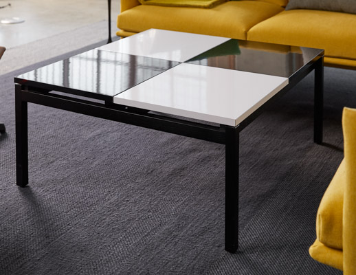 knoll design days butler coffee table, community space lounge area