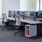 neocon 2018 hospitality at work tone height adjustable tables dividends horizon freestanding panels anchor mobile pedestal regeneration by knoll sapper xyz monitor arm sparrow
