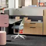 neocon 2018 hospitality at work ollo k. stand fabric screen beller desktop collection calibre storage