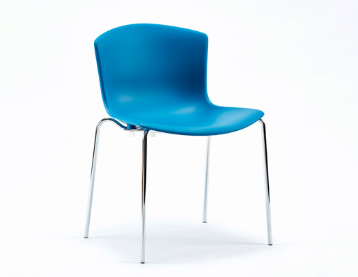 Bertoia molded shell side chair stacking base