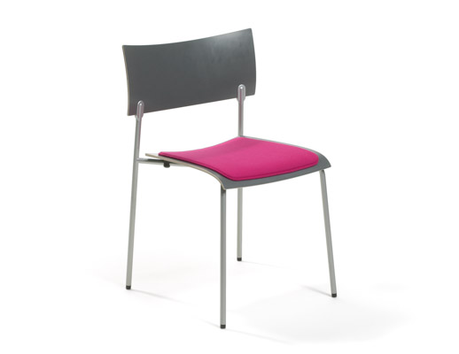 Chip Armless Chair with Seatpad