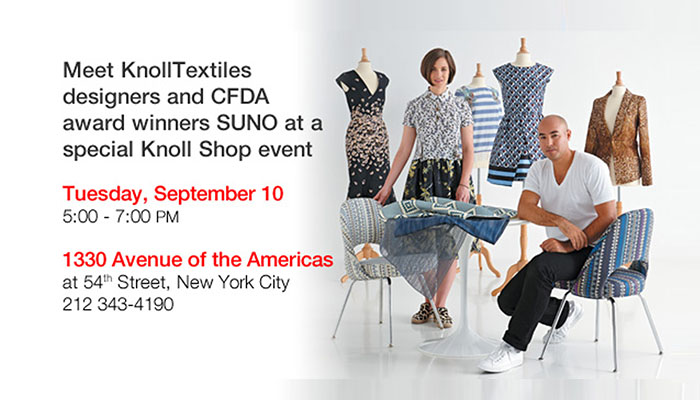 SUNO Event in NYC for Knoll Luxe