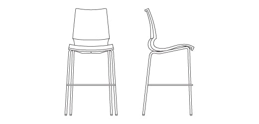 Brilliant Gigi Barstool Knoll Gmtry Best Dining Table And Chair Ideas Images Gmtryco