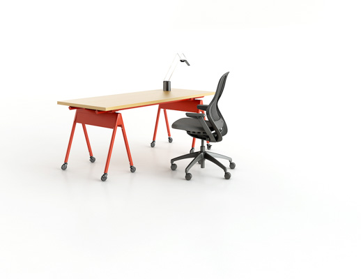 flexible adaptable mobile benching workstation ergonomic reconfigurable electricity power conduit