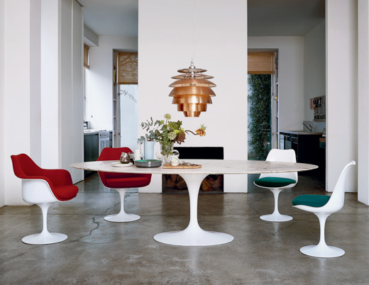 saarinen executive arm chair and dining table dining area classics knollstudio residential residence home - Saarinen Tulip Table