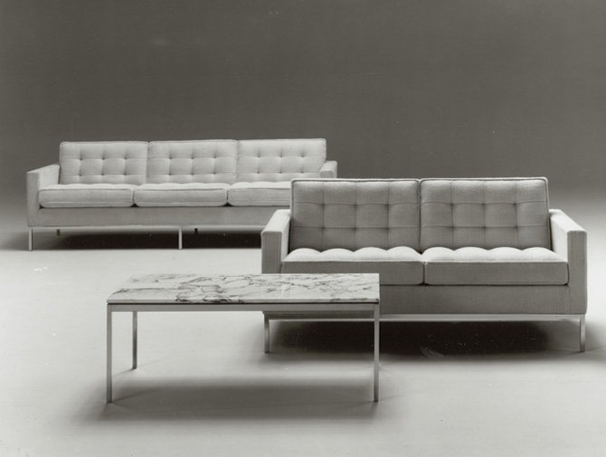 Knoll Florence Collection Sofa Settee Table history