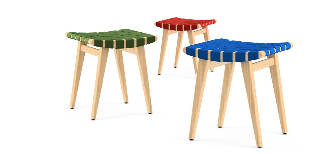 Knoll Risom Childs Stool by Jens Risom
