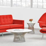 Florence Knoll Sofa and Saarinen Womb Chair with Platner Side Tables