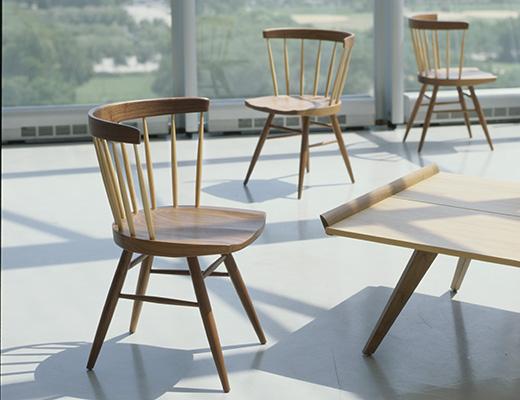 Straight Chair Splay Leg Table