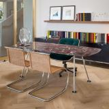Grasshopper table MR Rattan Side Chairs Pollock Executive Chair Florence Knoll Credenza