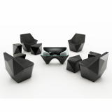 Prism David Adjaye club chair lounge best of neocon side table ottoman washington collection washington corona black aluminum