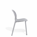 Grey Olivares Aluminum Chair side view